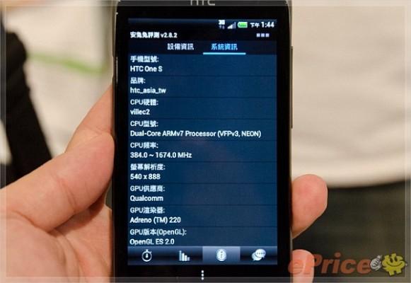 HTC One S: la versione taiwanese ha un processore dual core da 1.7 Ghz