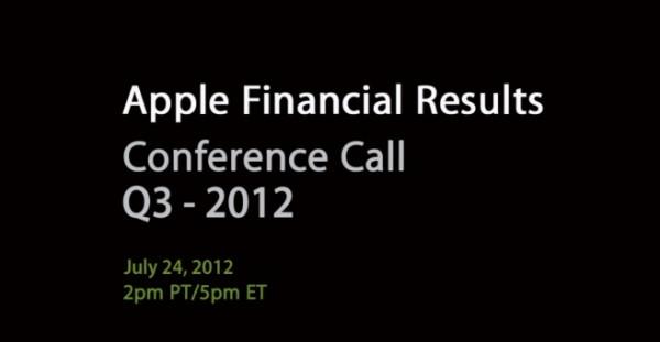 Apple: risutlati finanziari del Q3 2012, 8.8 miliardi di utile netto