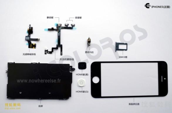 Apple iPhone 5: foto dei componenti interni
