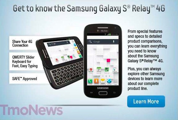 Samsung Galaxy S Relay 4G: nuovo smartphone con tastiera slide QWERTY