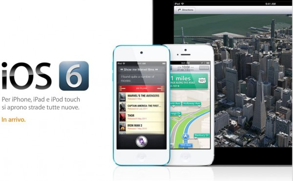 Apple iOS 6 disponibile per il download dal 19 Settembre