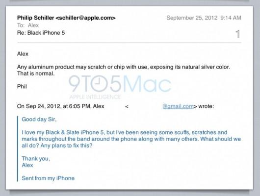 Phil Schiller: i graffi sulla scocca dell'iPhone 5 sono normali
