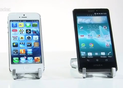 Apple iPhone 5 a confronto con il Sony Xperia T