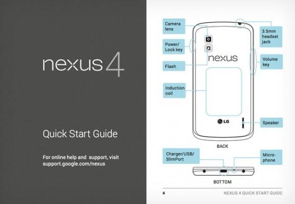 LG Nexus 4: online il manuale utente