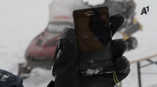 Sony Xperia Go resiste senza problemi alla neve e al freddo