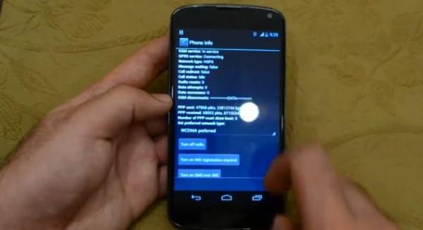 LG Nexus 4 funziona con le reti 4G LTE a 1700 e 2100 Mhz