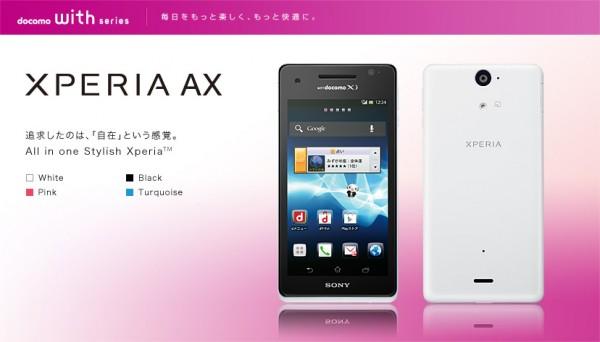 Sony Xperia AX in vendita in Giappone, primo video di unboxing