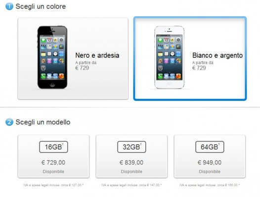 iPhone 5: disponibilità immediata nell'Apple Store italiano