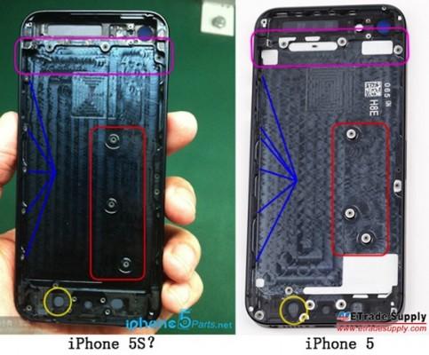 Apple iPhone 5S: presunte immagini della scocca posteriore