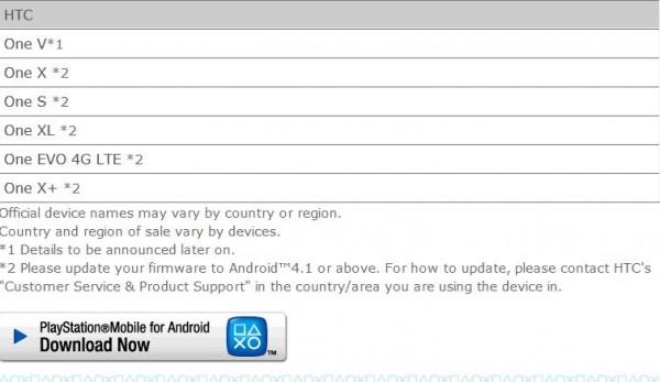 HTC One XL, ONE X+, EVO 4G LTE ricevono la certificazione Playstation