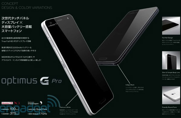 LG Optimus G Pro potrebbe avere un display FullHD da 5 pollici