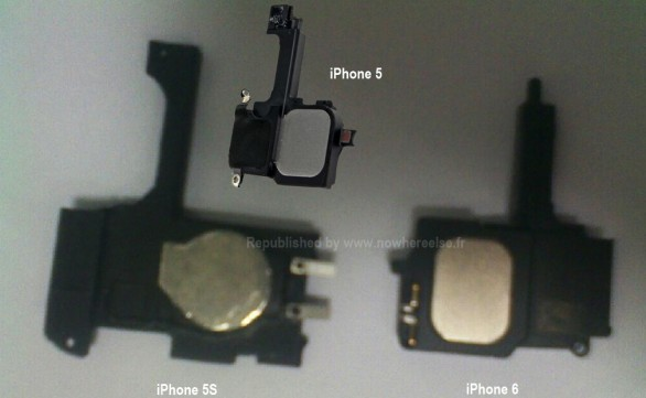 Apple iPhone 5S e iPhone 6: foto dei componenti interni