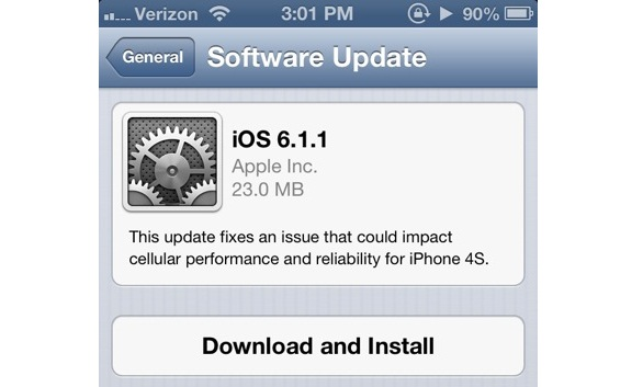 Apple iOS 6.1.1 disponibile per il download, risolti i problemi della rete 3G