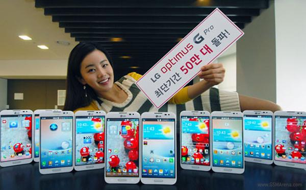 LG Optimus G Pro: vendute 500.000 unità in Corea del Sud