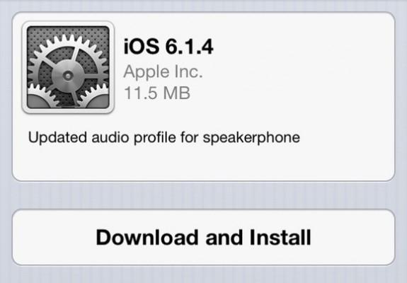 Apple iPhone 5: disponibile l'aggiornamento iOS 6.1.4