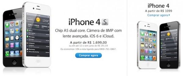 Apple iPhone 4 e iPhone 4S: taglio dei prezzi in Brasile