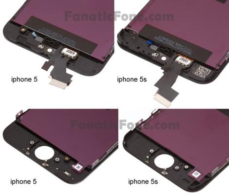 Apple iPhone 5S: nuova foto del display e dei componenti interni