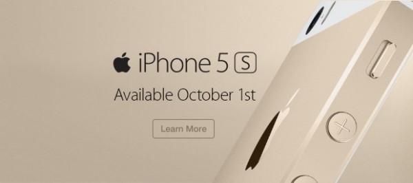 iPhone 5S: si estende la disponibilità il 1 Ottobre, ma ancora niente Italia