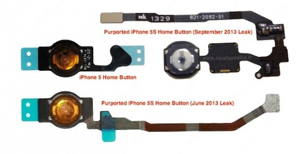 iPhone 5S con lettore impronte digitali, nuova foto del tasto Home