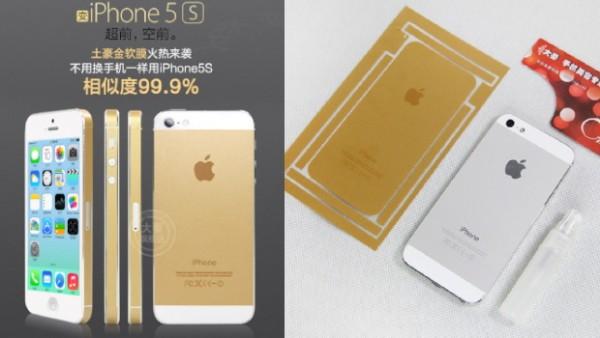 iPhone 5S esaurito nella colorazione Gold? No problem, ci sono gli adesivi