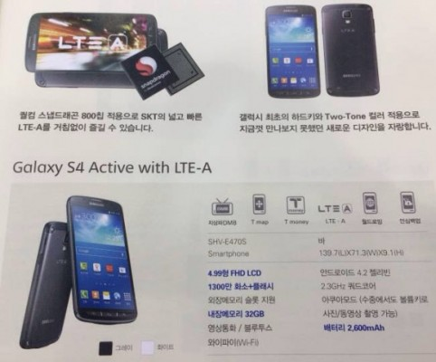 Samsung Galaxy S4 Active: nuova versione con processore più potente e 4G LTE-A