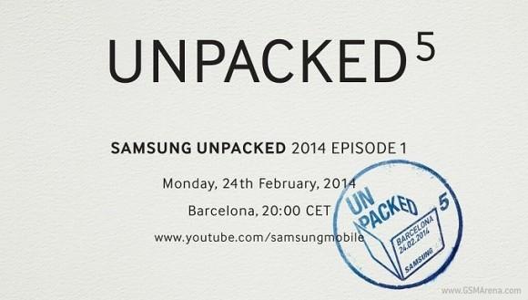 Samsung Galaxy S5: ufficiale l'evento a Barcellona il 24 Febbraio