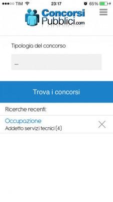 ConcorsiPubblici.com: come trovare un impiego tramite l'iPhone