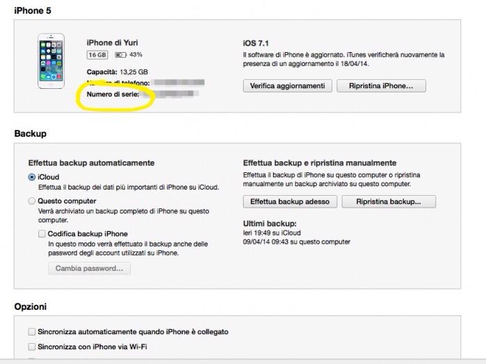 Come trovare il codice UDID del nostro iPhone con o senza iTunes