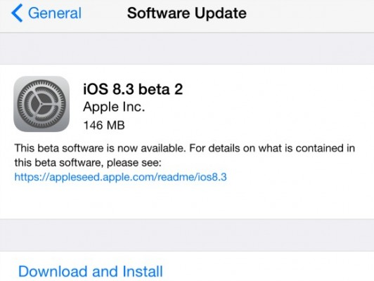 Apple iOS 8.3 Beta 4: novità e download