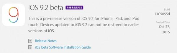 Apple iOS 9.2 Beta 1: tutte le novità