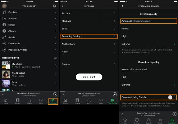 musica spotify dati cellulare